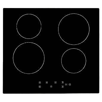 Cocina de inducción 6000W, Cocina eléctrica integrada de 4 Fuegos ...