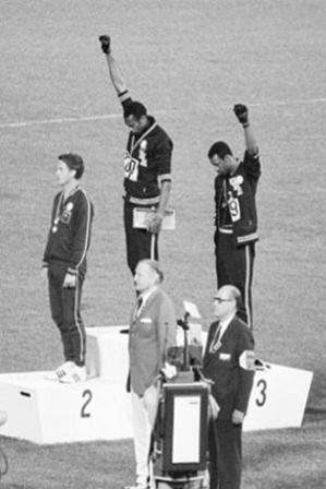 Black Power Mexico City Olympics Tommie Smith John Carlos Photo Sports Poster Print