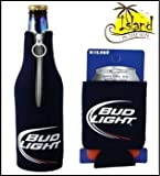 (2) Bud Light Logo Beer Can & Bottle Koozie Cooler