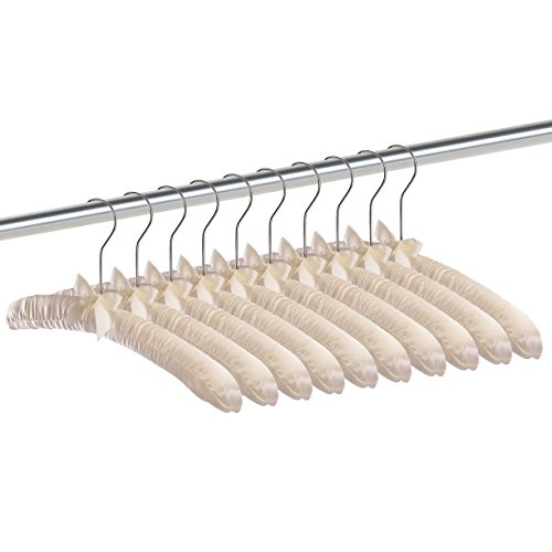 Premium Padded Hangers (Pack of 10) Foam Hangers - Dress Hangers Ivory - by Utopia Home
