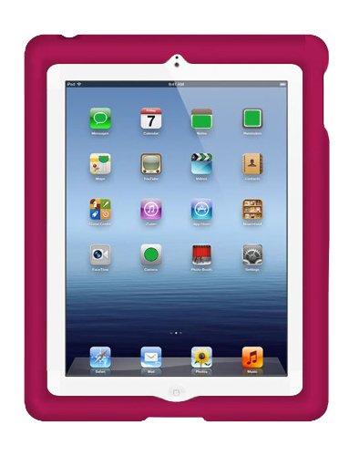 (Bobj Rugged Case for iPad 4, iPad 3, iPad 2 (not for iPad Air) - BobjGear Custom Fit - Patented Venting - Sound Amplification - BobjBounces Kid Friendly - Rockin' Raspberry)