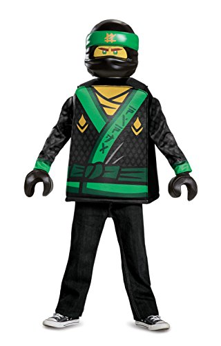 Disguise Lloyd Lego Ninjago Movie Classic Costume, Green, Medium -