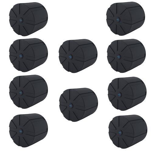 KUVRD 10 Pack Rubber Universal Lens Cap for 60mm-120mm Lenses
