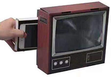 ARIILY Lupa de Pantalla de teléfono Lupa de teléfono Celular de TV de 8 Pulgadas de Estilo Retro, proyector de Pantalla de película de teléfono Celular con Soporte, Aumento de 2X: Amazon.es: