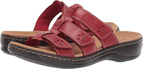 Medium Red Leather - CLARKS Women's Leisa Spring Red Leather 9.5 A US