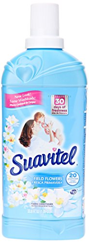Suavitel Fast Dry Liquid Fabric Softener, Field Flowers Scent, 33.8 Fl Oz ()