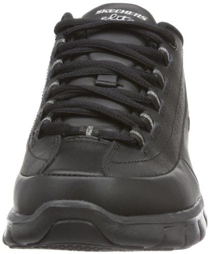 Skechers Training Black Elite Sneaker Women's Status Sport Leather Synergy rwX7Frq