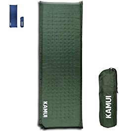 KAMUI Self Inflating Sleeping Pad – 2 Inch Thick Camping Pad Connectable with Multiple Camping Mats Designed for Tent…