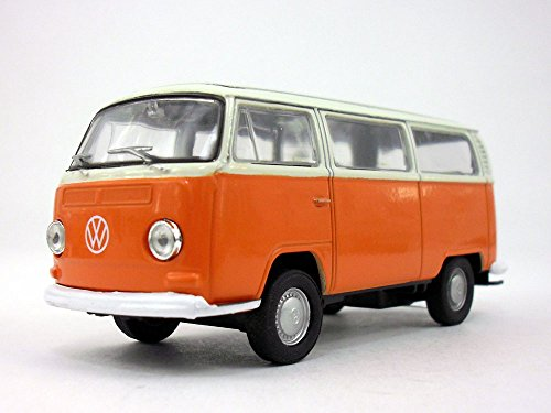 Toyota Van Models - Volkswagen - VW T2 (Type 2) 1972 Bus 1/38 Scale Diecast & Plastic Model - ORANGE