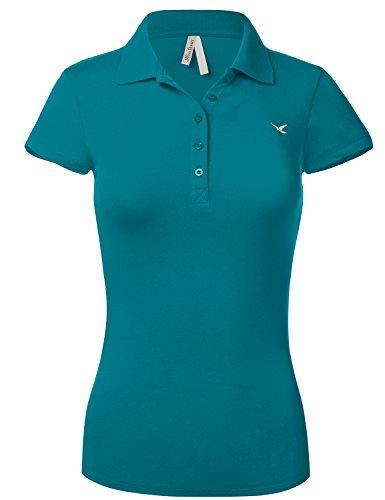 Waist Short Sleeve Shirts 102 Teal product image