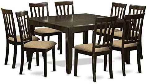 9 Pc Dining room set-Square gathering Table