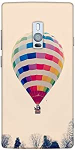 Snoogg Hot Air Ballooning Designer Protective Back Case Cover For One Plus Two