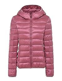 CHERRY CHICK Women's Light Weight Puffer Down Hooded Parka Jacket