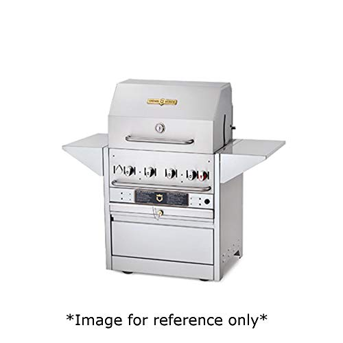 Crown Verity CV-MBI-30-LP Hotel Series Grill, Liquid Propane Outdoor Charbroiler with (4) 15,000 BTU S/S Burners