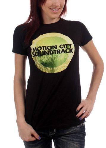 Motion City Soundtrack - Womens Go Album Logo Womens T-Shirt, Small, - Apparel City Soundtrack Motion