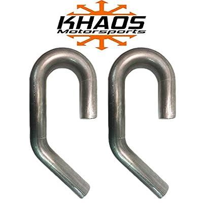 "2"" 180 degree 45 Degree U J Combo Exhaust Turbo Pipe Mandrel Bend Aluminized Mild Steel Khaos Motorsports 2 Pack: Automotive"