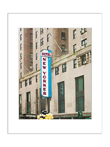 New Yorker Hotel NYC Urban Decor Architectural Photography 8x10 Matted Art - Penn 10 Square