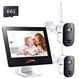 Wireless Security Camera System,4CH 2MP All-in-One 9″ Touched LCD Monitor with 2 Pro Rechargeable Battery Outdoor WiFi Security Camera 1080p HD Wire-Free 2-Way Audio Day Night Motion Detection ANRAN Review