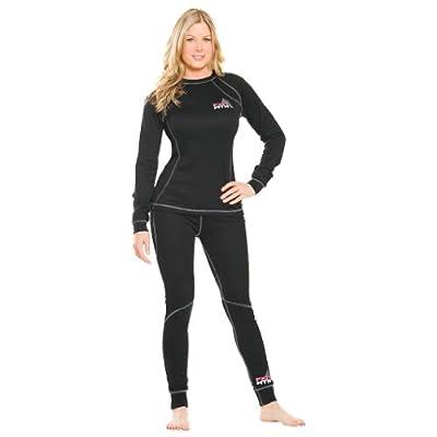 Women's FXR Vapour 20% Merino Wool Blend Thermal Underwear Top Black