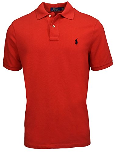 Polo Ralph Lauren Mens Classic Fit Mesh Polo Shirt - M - Red -