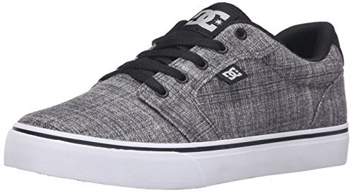 DC Men's Anvil TX SE Skateboarding Shoe, Grey Heather, 7 M US