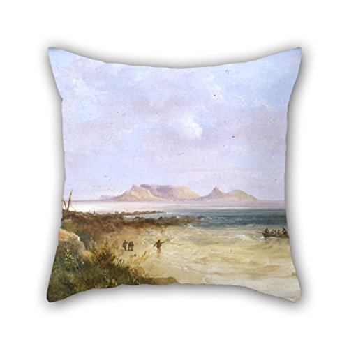 Artistdecor Throw Cushion Covers Of Oil Painting Thomas Bowler - Table Bay 18 X 18 Inches / 45 By 45 Cm,best Fit For Son,club,husband,coffee House,son,home Theater 2 Sides