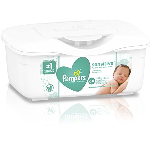 Pampers Sensitive Water Baby Wipes Tub, 64 Count