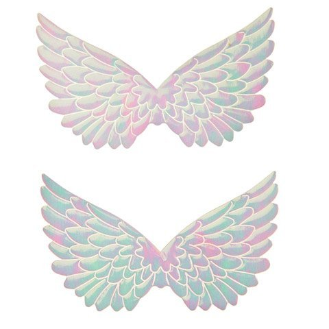 Bulk Buy: Darice DIY Crafts Angel Wings Fabric Embossed White Iridescent 4.75 in 2 pieces (6-Pack) 2449-03