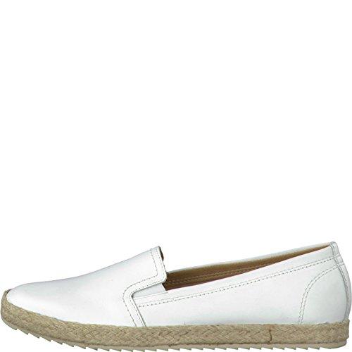 para Piel mujer Tamaris 117 blanco Weiß leather Mocasines de white qIE7w7t