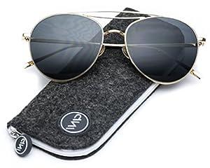 WearMe Pro - Modern Round Double Wire Aviator Sunglasses