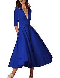 Women Retro Herburn Dress Vintage Swing Party Dress