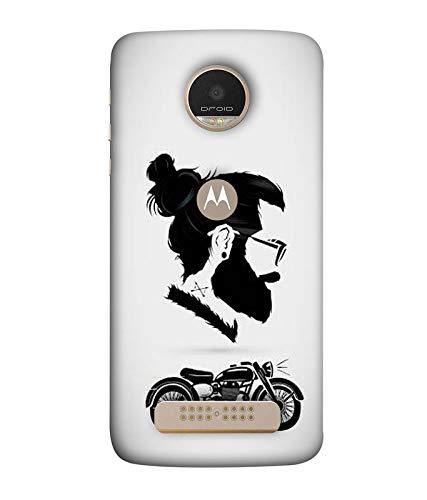 Yunic Printed Colorful Swagger, Beard Man, Bike Lover Back Case Cover for Motorola Moto Z Play