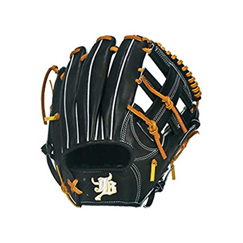JB 和牛JB 硬式 グローブ グラブ 内野手 二塁手 遊撃手 和牛 JB-004 スワロースポーツ B07NC3XQLJ  ブラック R(右投用)