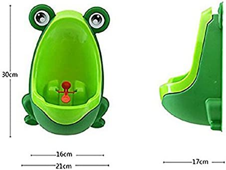 Fltaheroo 1 x Fun Pot Children Frog-Shaped Urinal Green
