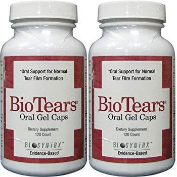 Bio Tears Oral Gel Caps for Dry Eye, 120 Softgels (2 Pack)