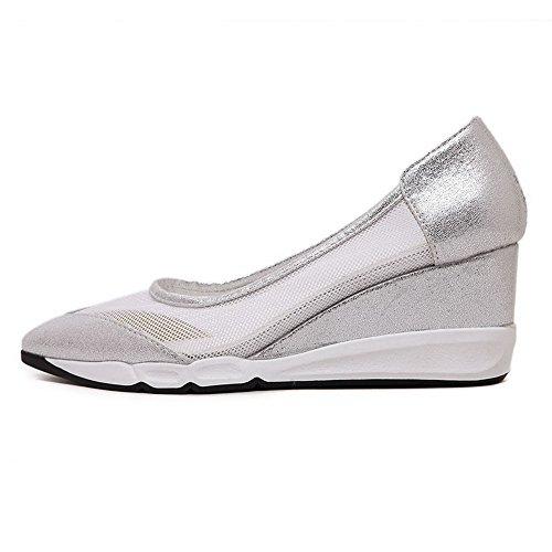 Damen Gerafft Mittler Absatz Quadratisch Zehe Ziehen auf Pumps Schuhe, Pink, 35 VogueZone009