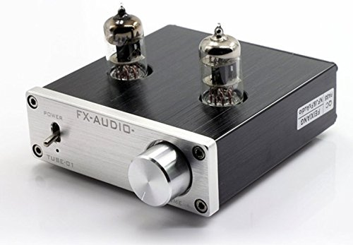 Douk Audio Mini 6J1 Valve & Vacuum Tube Pre-Amplifier Stereo HiFi Buffer Preamp(Silver) by Douk Audio