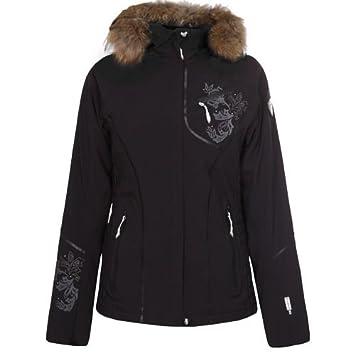 new product 45a25 79d6b Icepeak Damen Skijacke Winterjacke NETIS IA mit Pelz schwarz