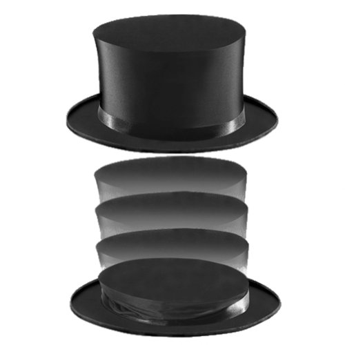 Magic Collapsible Top Hat Magician Halloween Costume Accessory Prop (Halloween Illusion Costumes)