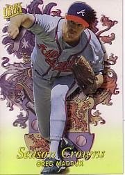 (1996 Ultra Season Crowns #5 Greg Maddux Near Mint/Mint)