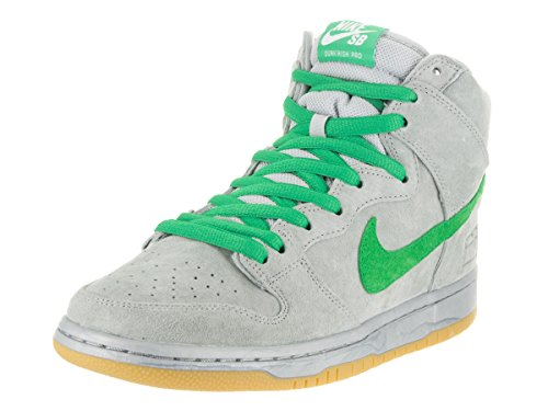 Nike Dunk Premium Sb (Nike Men's Dunk High Premium SB Metallic Silver/Hyper Verde/Gu Skate Shoe 9 Men US)