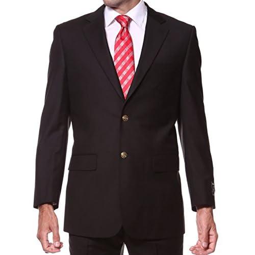Cheap Ferrecci Mens Black Gold Button Blazer hot sale
