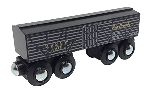 Choo Choo Track & Toy Co. Denver & Rio Grande Western Cattle Boxcar magnetic wooden train