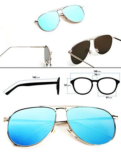 884cf8361d O2 Eyewear 97025 Premium Oversized Aviator Flat Mirrored Sunglass Womens  Mens (METAL