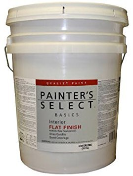 True Value VF11-5G Painter's Select Basics White Interior Flat Latex Wall Paint, 5-Gallon