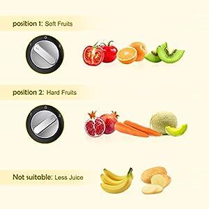 Centrifuga di MLITER 400w Frutte e Verdura Estrattore di Succo con 65mm Larga Bocca 2 Velocia' Spremigagrumi Elettrico, Lame in Acciaio Inossidabile 304 - 2021 -
