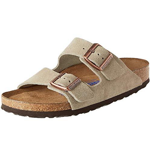 Suede Mocha Footwear (Birkenstock Women's Arizona Mocha Suede Sandals size 39 R)