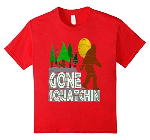 Kids Bigfoot gone squatchin t-shirt 10 Red (Bigfoot Costumes For Kids)