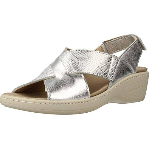 de Marca Mujer PINOSOS PINOSOS Mujer Cordones para Cordones para 7381 Modelo De Plateado Plateado Color Zapatos Plateado Zapatos dYAq4nd