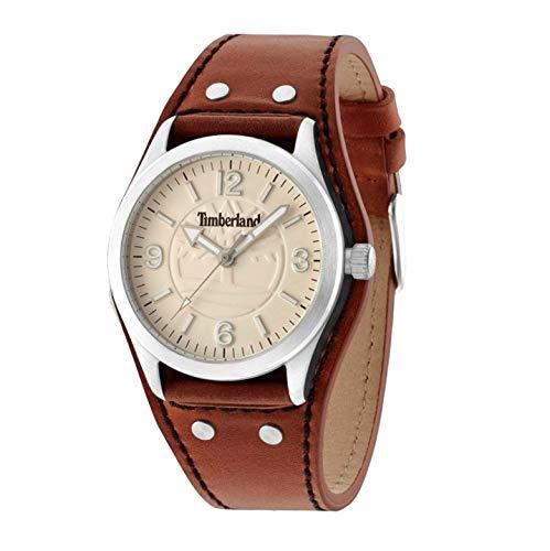 02b555263892 Timberland Reloj Análogo clásico para Hombre de Cuarzo con Correa en Cuero  TBL14566JS14  Amazon.es  Relojes
